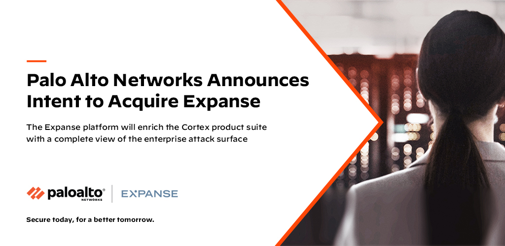 Palo Alto Networks Announces Intent to Acquire Expanse Billboard Image with Expanse Logo